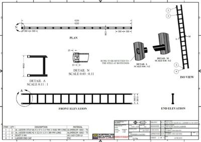 Butlin 4.2M Ladder Online | Built by Butlins | Supplied by Australian Scaffolds